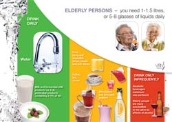 Beverage recommendations for elderly persons