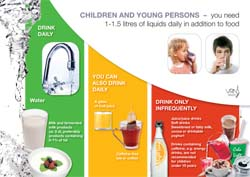 Beverage recommendations for children and young persons