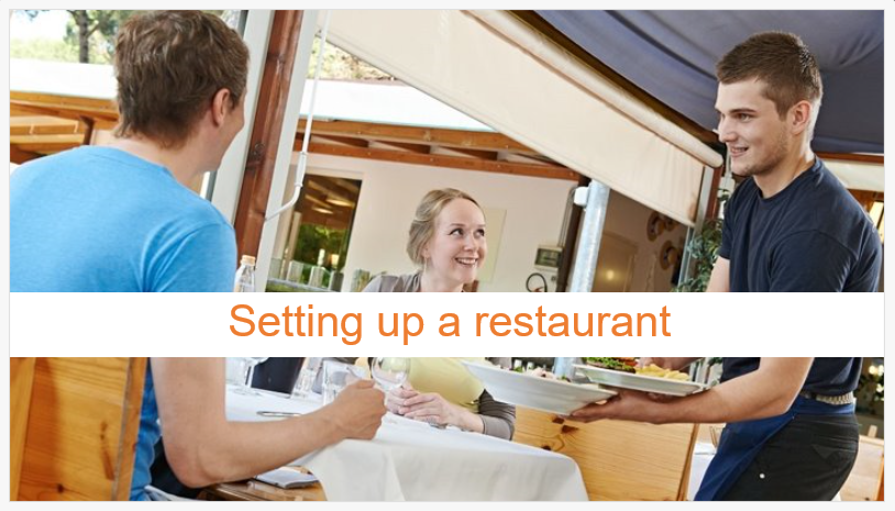 Online course about setting up a restaurant